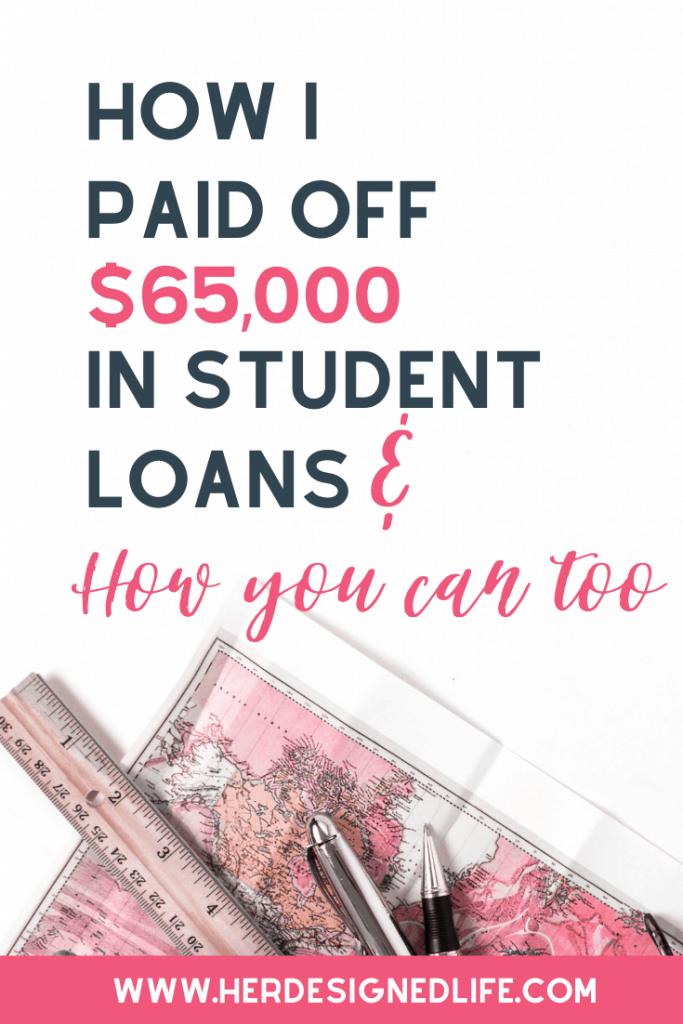 How I paid off my student loans and how you can too