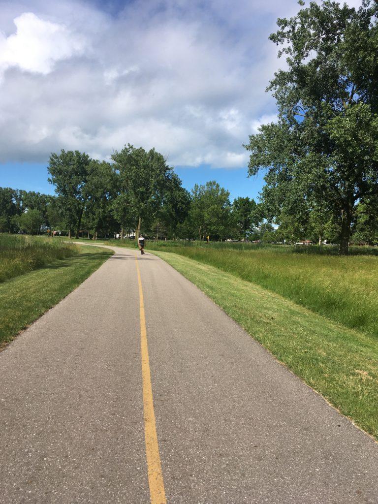 biking and park