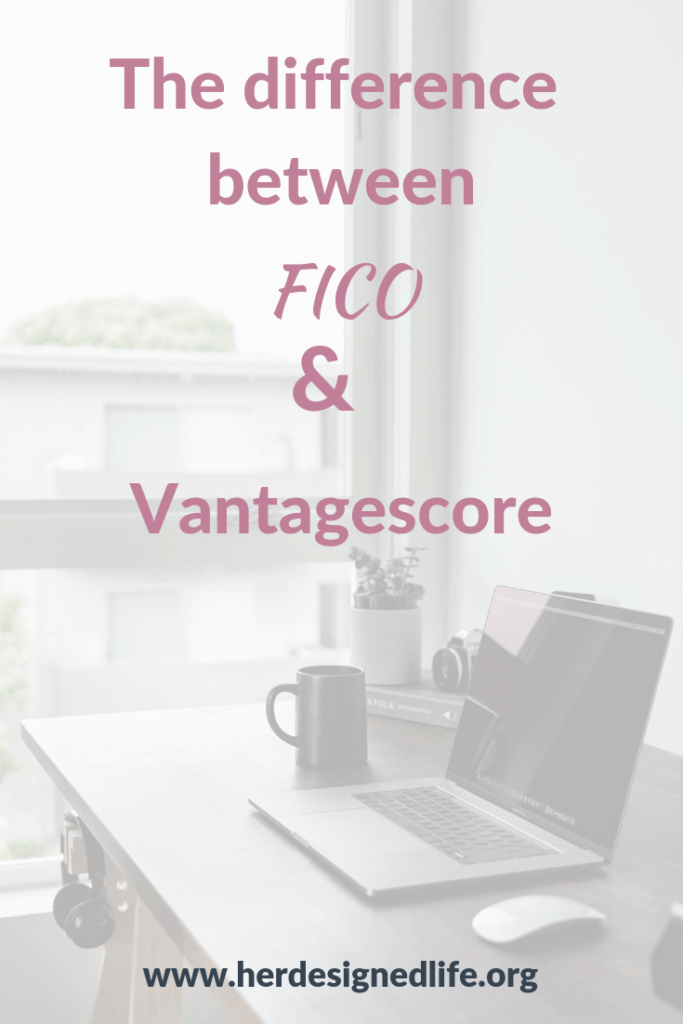 difference between fico and vantagescore pinterest