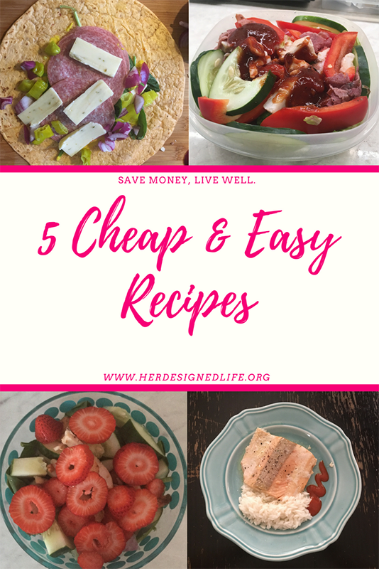 5 cheap and easy recipes