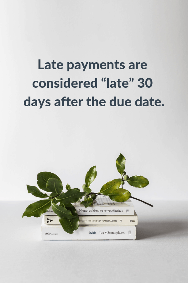late credit payments