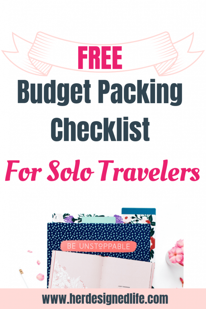 Free Budget Packing Checklist for Solo Travelers